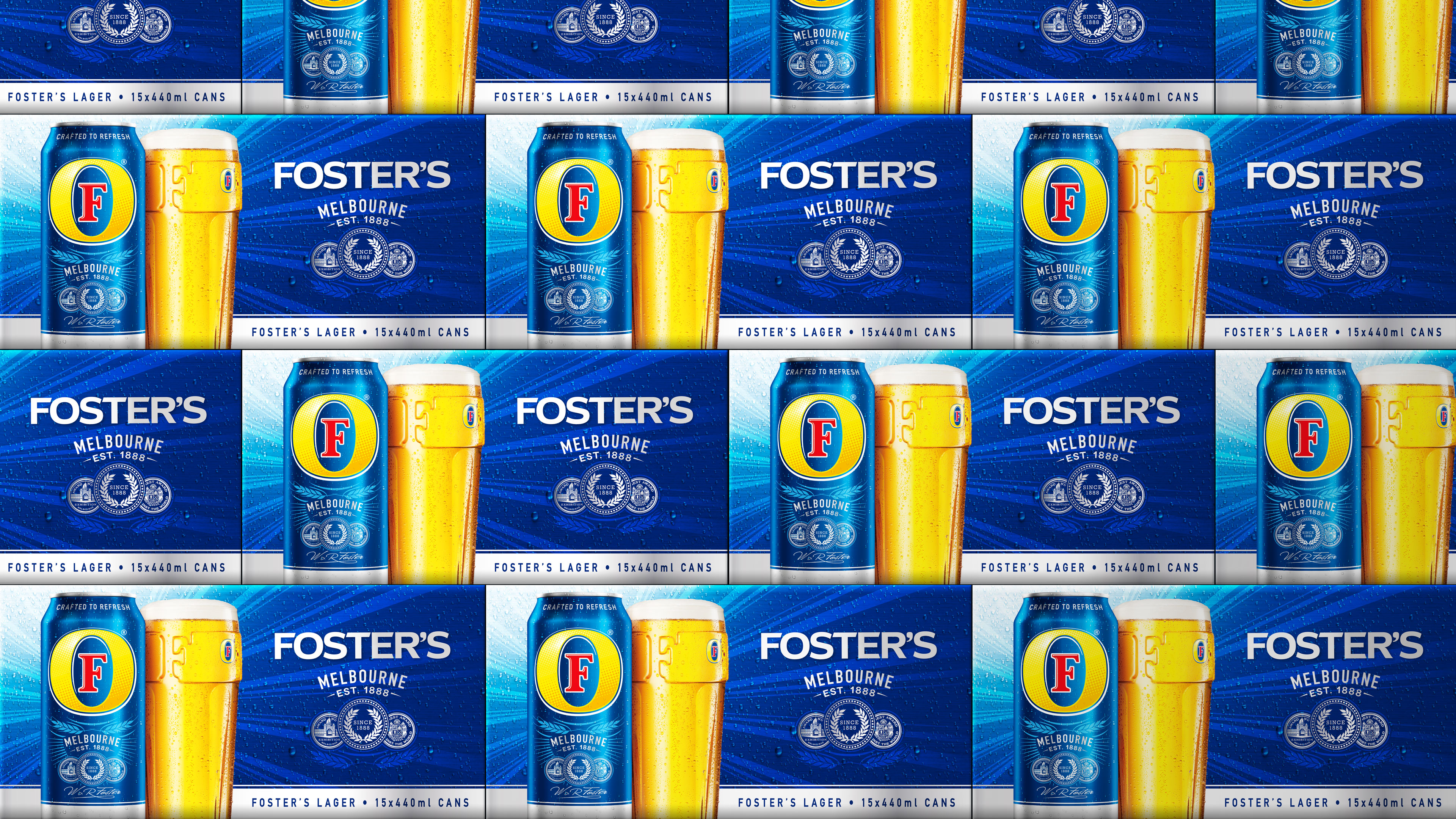 Foster's Multi Pack Packaging Design