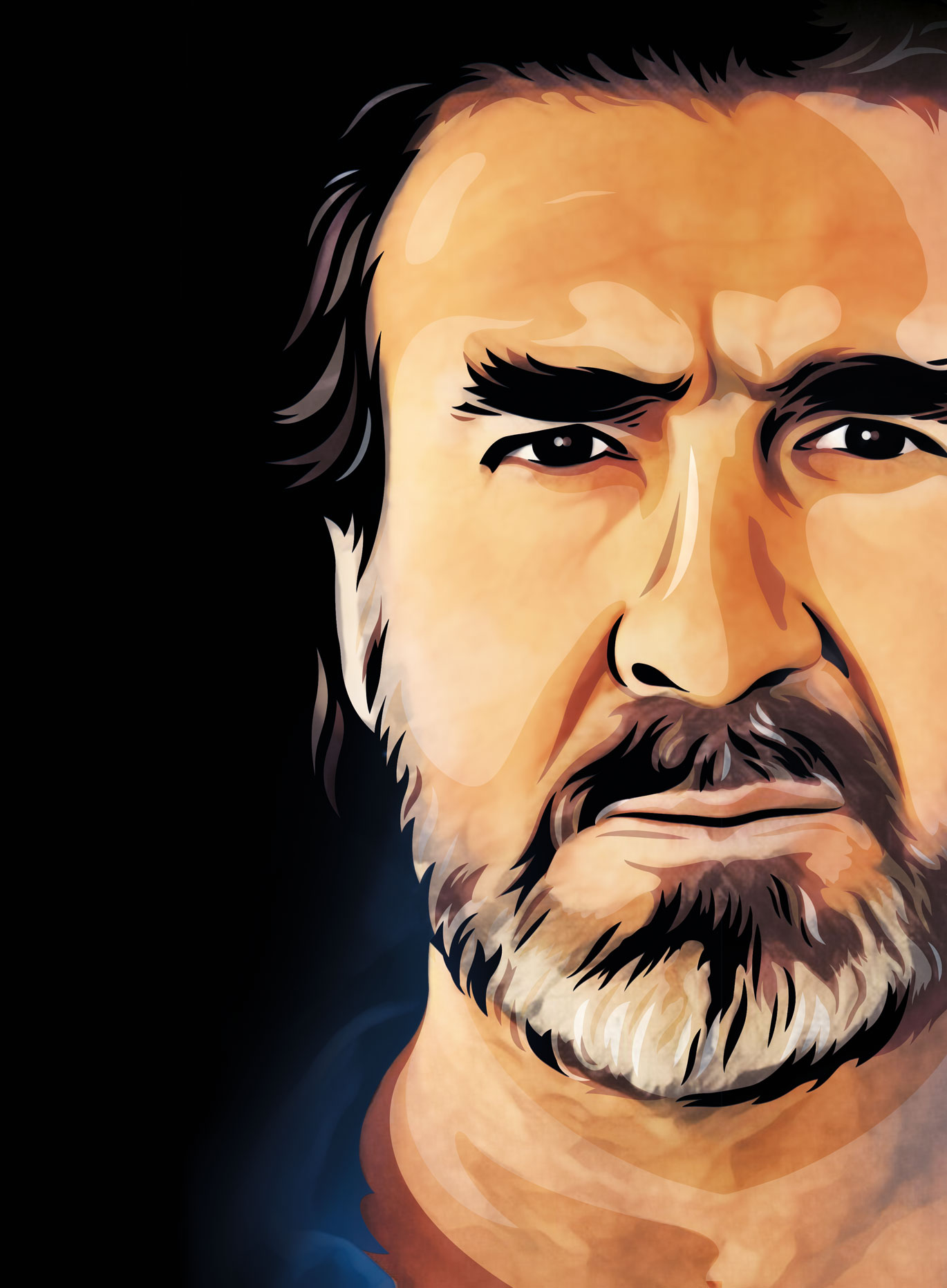 Eric Cantona Portrait Illustration