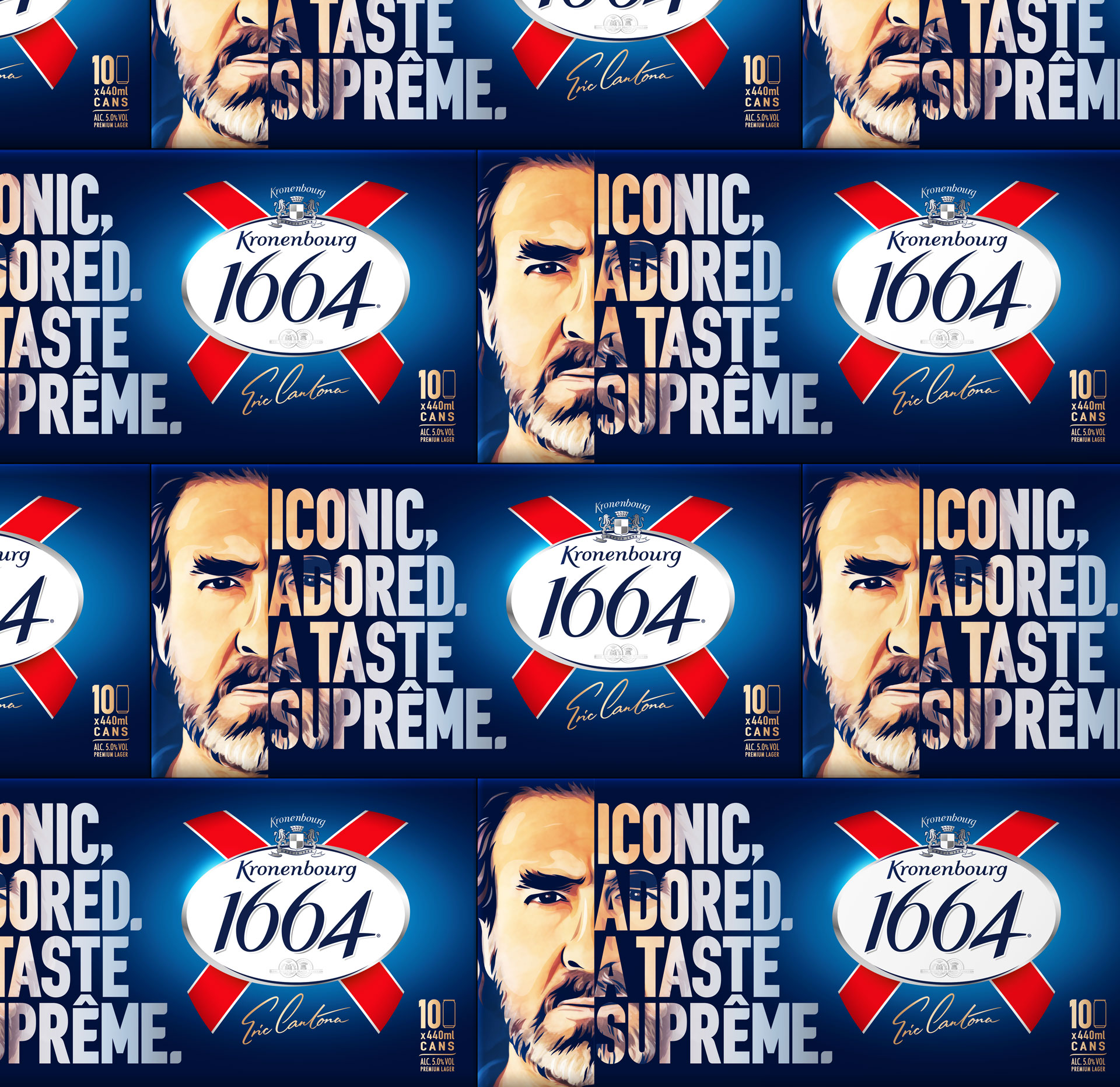 Kronenbourg Cantona multi pack packaging design