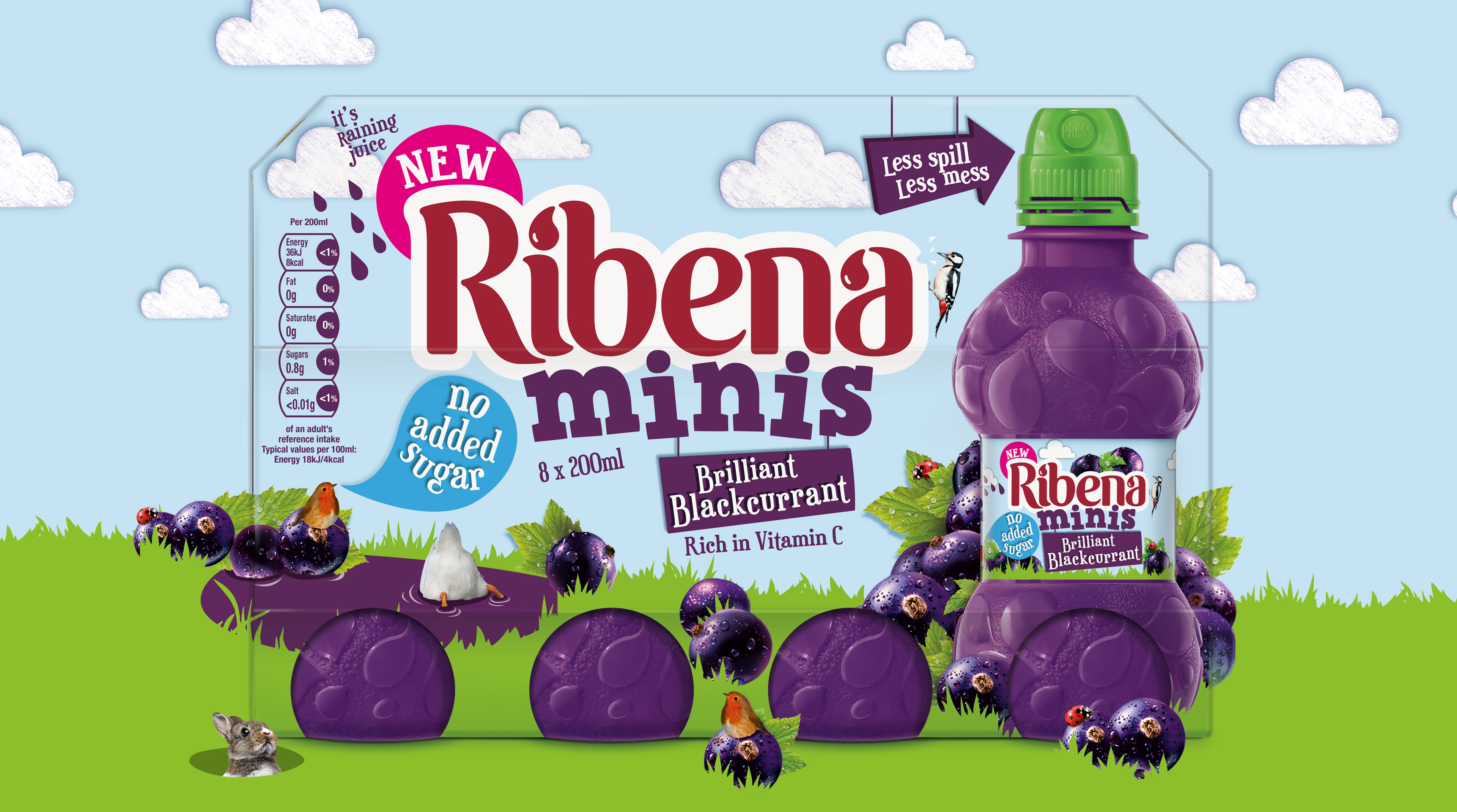 Ribena Minis multi pack design