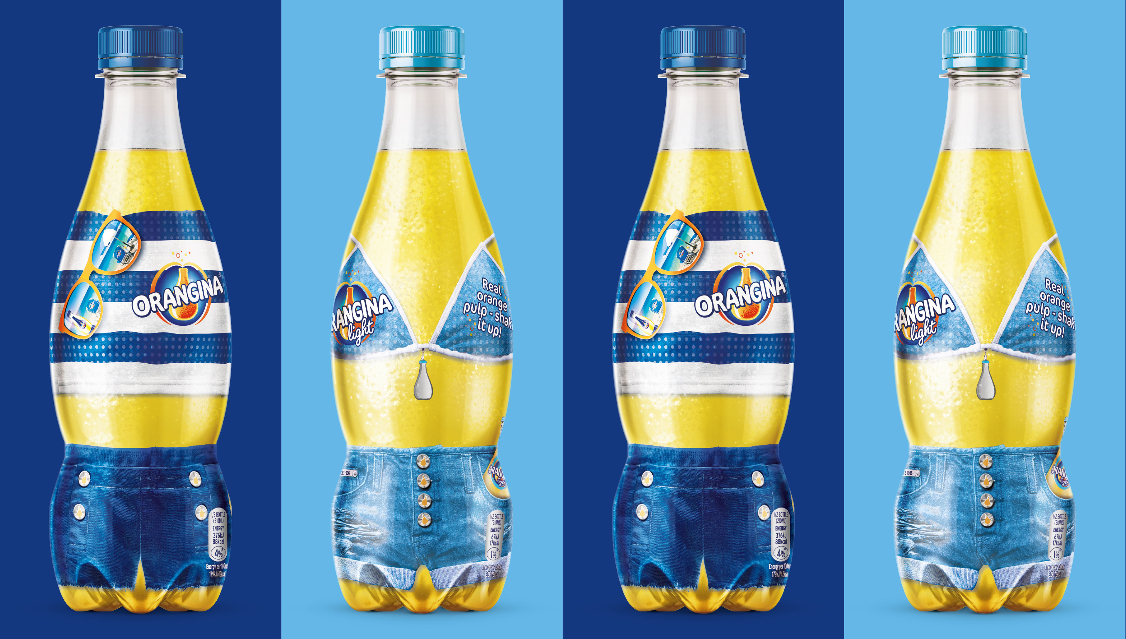 Orangina Beach Bottles Design