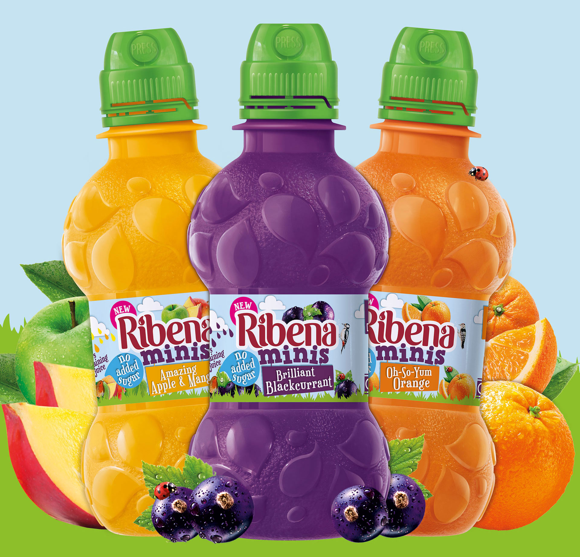 Ribena Minis packing designs