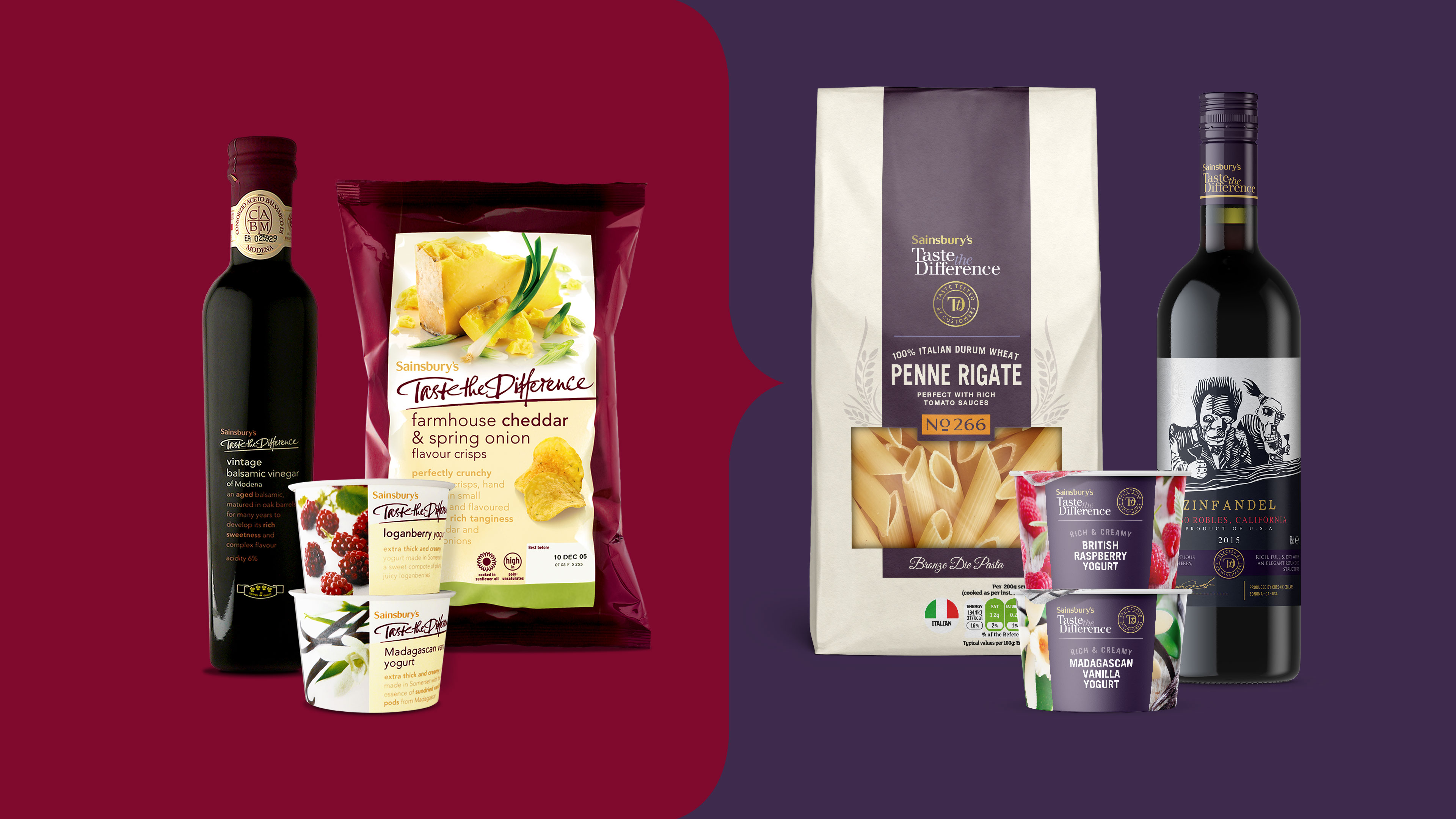 Sainsbury's Taste the Difference after re-design